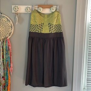 NWT O'neill strapless dress